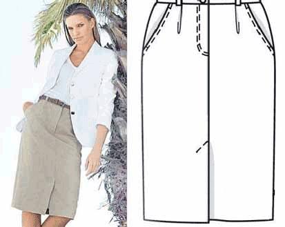 Виды шлиц на юбку